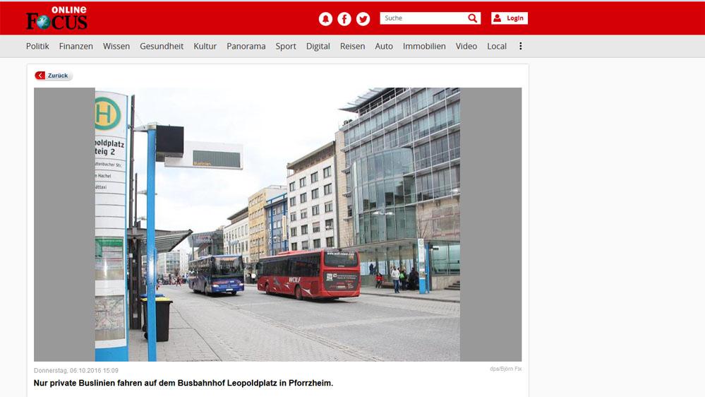 Nochmal der Leopoldplatz, im Bildtext der Hinweis auf das aktuelle Geschehen.
